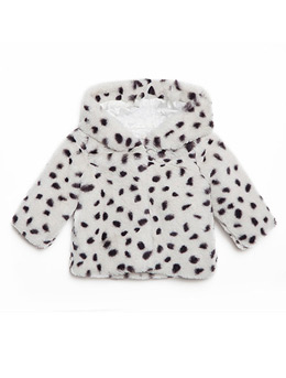 Baby hoody jacket in micro terry fur.