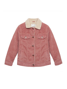 Girl jacket in 100% Cotton Corduroy Lapel